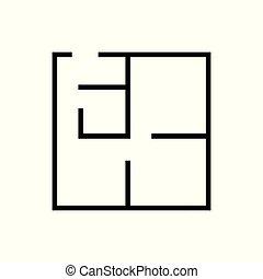 icona, sfondo bianco, isolato, piano