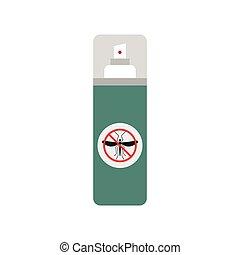 icona, spruzzo, zanzara, appartamento