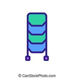 icona, standing, scala, contorno, vettore, illustrazione