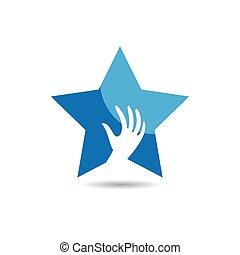 icona, stella, logotipo, prendere