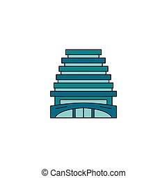 icona, stile, albergo, cartone animato, turco