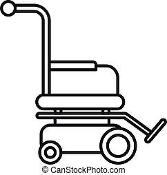icona, stile, motore, contorno, carrozzella