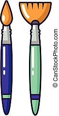 icona, stile, spazzola, cartone animato