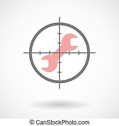 icona, strappare, crosshair