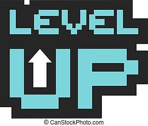 icona, su, livello