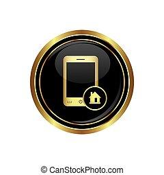icona telefono, menu, casa