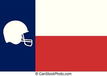 icona, texas, spoof, football segnalatore
