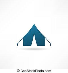 icona, vettore, illustrazione, tenda