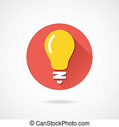 icona, vettore, lightbulb