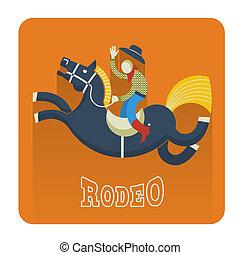 icon.cowboy, rodeo, caballo
