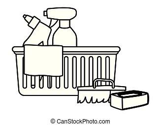 icone, apparecchiatura, igiene, nero, pulizia, bianco