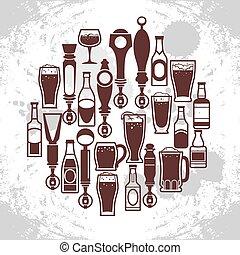 icone, birra