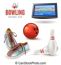 icone, bowling, set