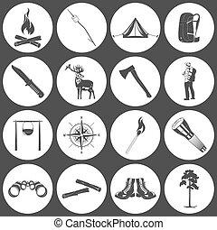 icone, campeggio