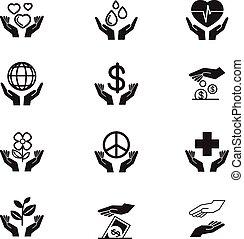 icone, carità