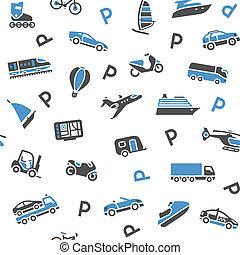 icone, carta, involucro, 10eps, -, seamless, fondo, trasporto