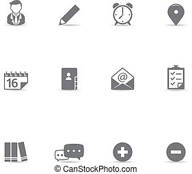 icone, collaborazione, colorare, -, singolo