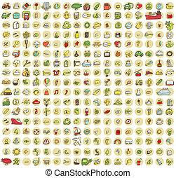 icone, collezione, 289, doodled, ogni, no.2, occasione, xxl