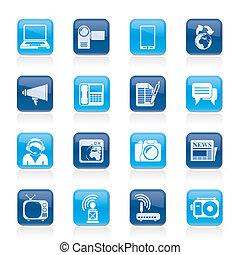 icone, comunicazione, tecnologia
