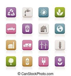 icone, ecologia, ambiente