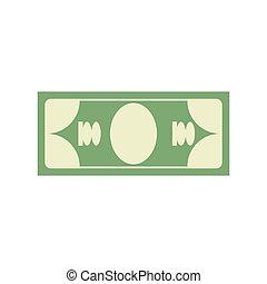 icone finanziarie, soldi, segno., dollaro, contanti, emblem., simbolo.