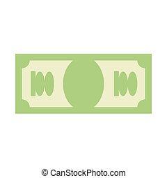 icone finanziarie, soldi, segno., dollaro, simbolo., emblem., contanti