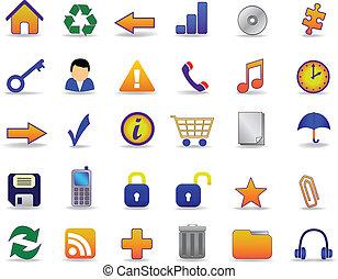 icone fotoricettore, set