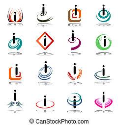 """icone, lettera, """"i""""., astratto"""