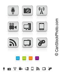icone, media