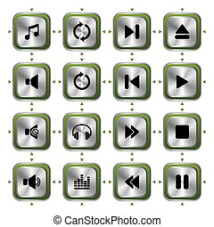 icone, musica, set