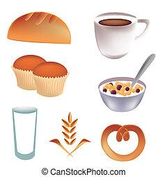 icone, per, colazione