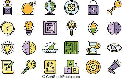 icone, ricerca, appartamento, vettore