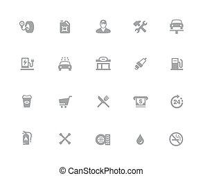 //, icone, serie, gas, 32px, stazione, bianco