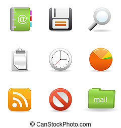 icone, set, 1
