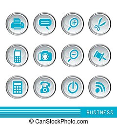 icone, set, affari