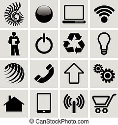 icone, set, infographic
