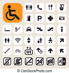 icone, set, pubblico