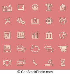 icone, sfondo colore, linea, rosso, economia