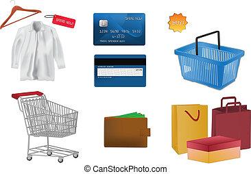 icone, shopping