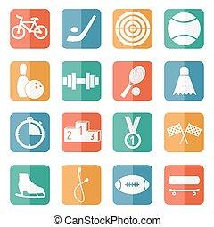 icone, sport, vettore