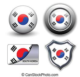 icone, sud corea