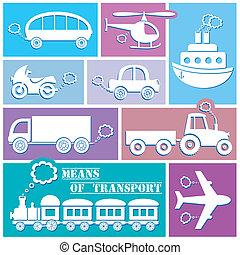 icone, trasporto