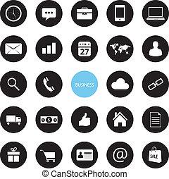 icone, vettore, affari, ecommerce