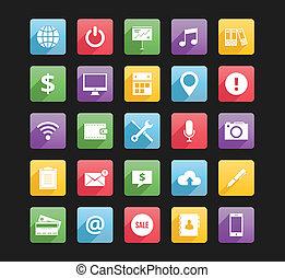 icone, web, 2, set