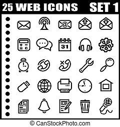 icone, web, 25