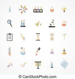 icone, web, vettore, scienza