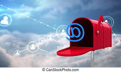 iconen, brievenbus, profiel