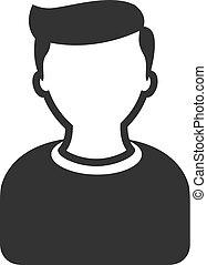 iconen, bw, -, gebruiker, avatar