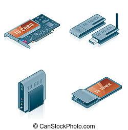 iconen, communie, -, computer, set, 55k, ontwerp, hardware