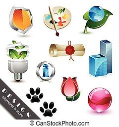 iconen, communie, ontwerp